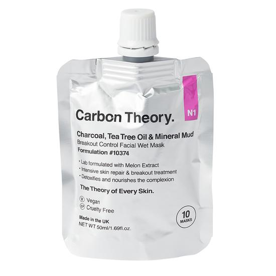 Carbon Theory Charcoal & Tea Tree Oil Mineral Breakout Control Facial Wet Mask