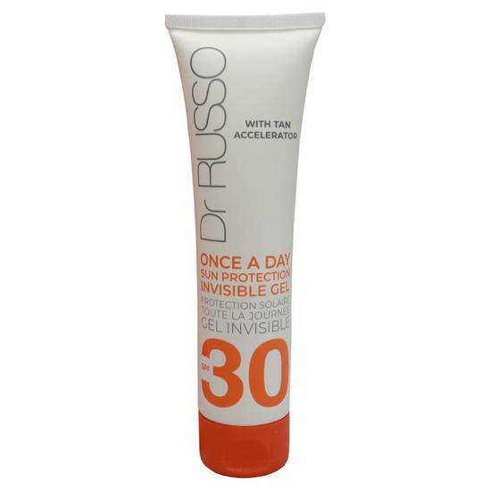 Dr Russo Once A Day Sunscreen Invisible Body Gel Tan Accelerator SPF30 100ml
