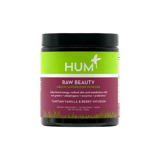 Hum Nutrition Raw Beauty Green Superfood Powder Vanilla & Berry 8 oz