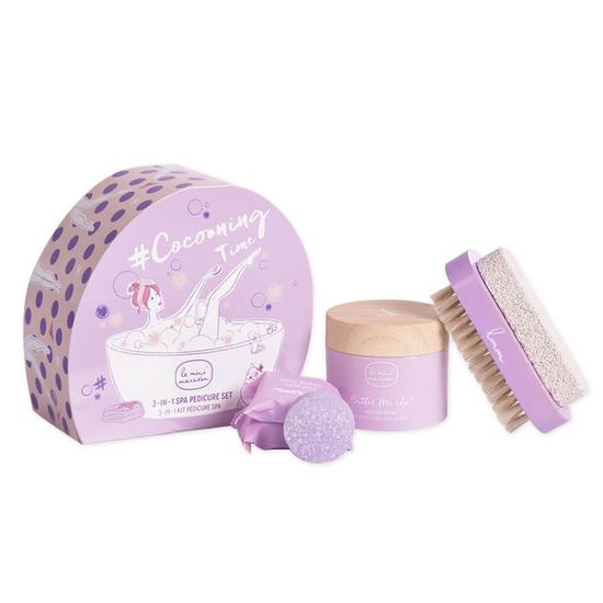 Le Mini Macaron Cocooning Time 3 In 1 Spa Pedicure Set