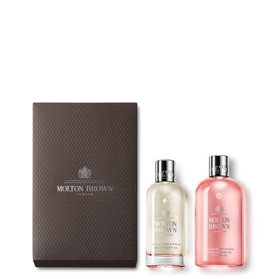 Molton Brown Delicious Rhubarb & Rose Body Luxuries Set 1 x 100ml, 1 x 300ml