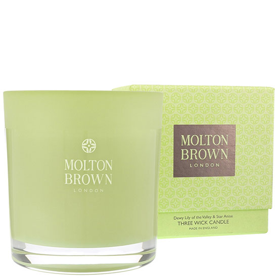 Molton Brown Dewy Lily Of The Valley & Star Anise Three Wick Candle 17 oz