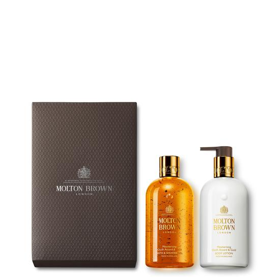 Molton Brown Mesmerizing Oudh Accord & Gold Shower Gel & Lotion Gift Set
