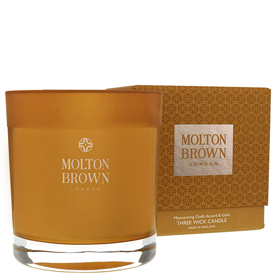 Molton Brown Mesmerizing Oudh Accord & Gold Wick Candle Three
