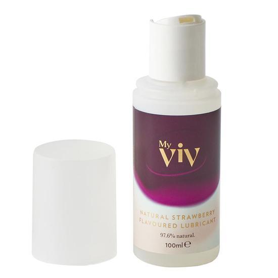My Viv Natural Strawberry Flavored Lubricant 3 oz