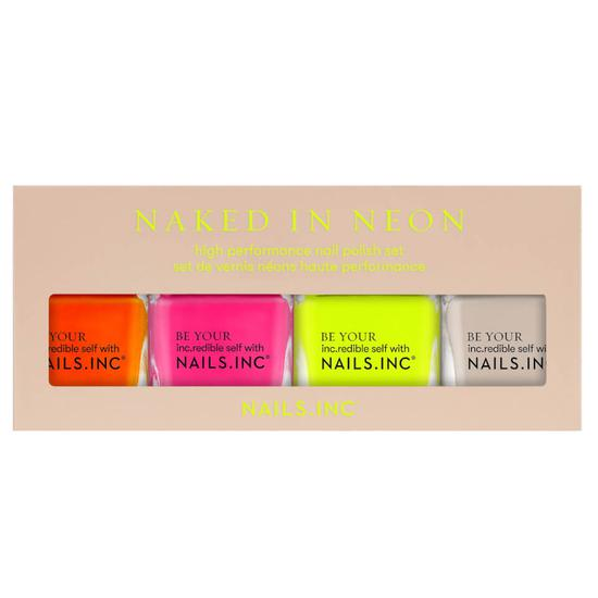 Nails Inc Naked In Neon Top Coat Quad 14ml