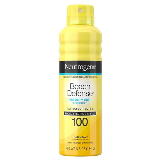Neutrogena Beach Defense Oil-Free Body Sunscreen Spray SPF 100 6 oz
