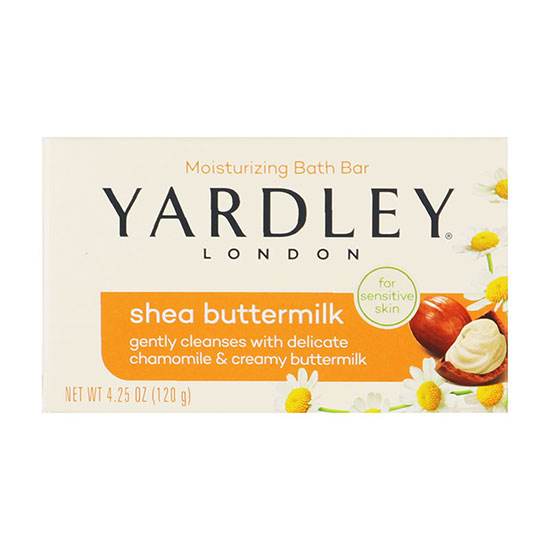 Yardley Shea Buttermilk For Sensitive Skin Boxed Soap 120g